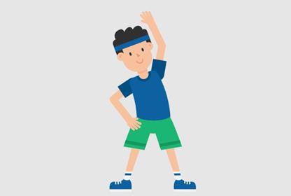 Man Exercising Cartoon