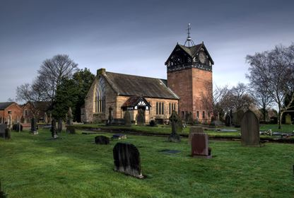 Walking with Spice Social Group St Martins Church Ashton on Mersey