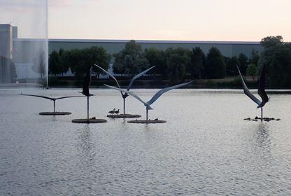 Bird Statues in JCB Lake