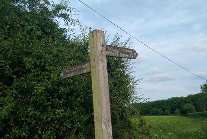 Fulford Footpath Sign