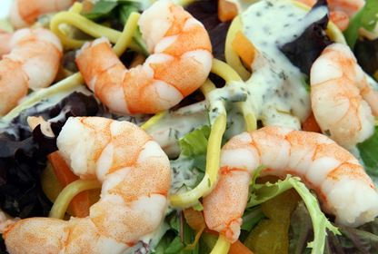Seafood meal - prawns