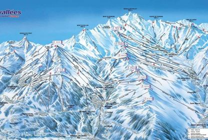3 Vallees Piste Map