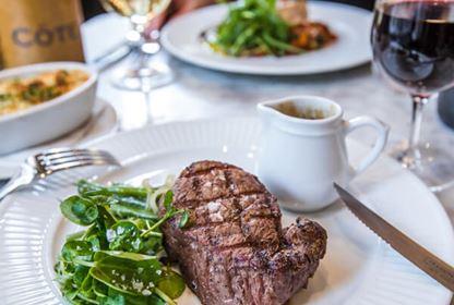 cote steak wine table restaurant