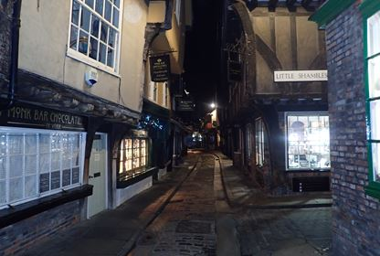 York Shambles at night
