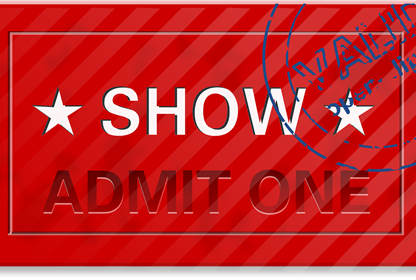 Generic Theatre Ticket Admit One
